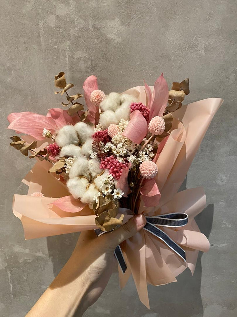 Cotton Preserved Bouquet