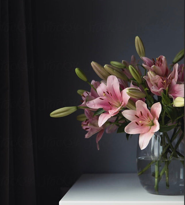Fresh Lily Vase Arrangement