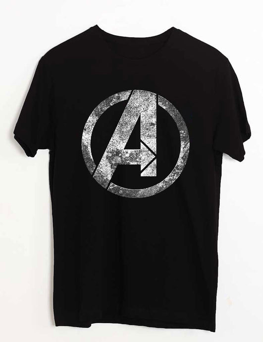 Avenger -Black Round Neck T-shirt -High Five Clothing