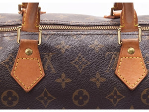 Louis Vuitton Speedy 35 Brown Tan Leather Monogram Satchel, my first louis vuitton bag