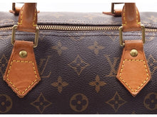 Louis Vuitton Speedy 35 Brown Tan Leather Monogram Satchel