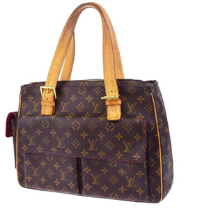 Multipli Cite Monogram Canvas Brown Leather Tote