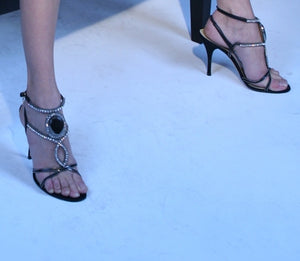 Jewel High-heels sandals Versace