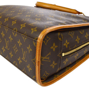 AUTHENTIC LOUIS VUITTON Monogram Rivoli Briefcase, Louis Vuitton men's brown and tan monogram coated canvas Rivoli Briefcase