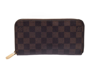LOUIS VUITTON Damier Ebene Zippy Wallet the real real