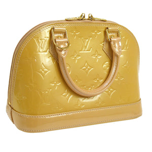 Beige Louis Vuitton Monogram Vernis Alma BB 2Way
