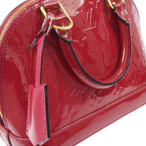 LOUIS VUITTON ALMA VERNIS BB  MONOGRAM CROSSBODY BAG
