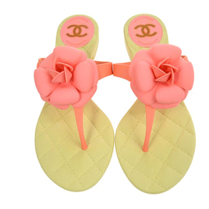 7e717463a Chanel CC Camellia Sandals Shoes Pink