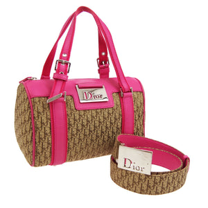 CHRISTIAN DIOR Two-Tone Boston Bag & Belt