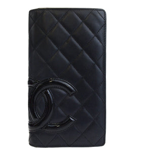 Chanel Black Cambon Ligne Yen Wallet