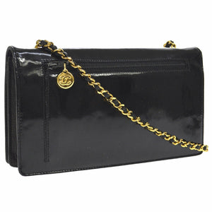 chanel black Caviar Timeless wallet on chain