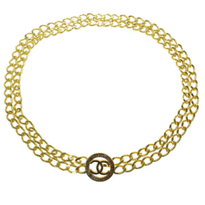 Chanel CC Vintage Gold-tone Chain Belt/Necklace