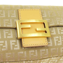 Authentic FENDI Zucca Mamma Baguette Shoulder Bag