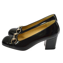 GUCCI GG Black Leather Horsebit Pumps the real real