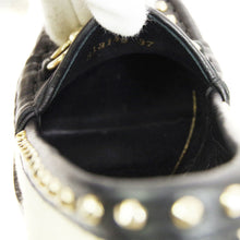 GUCCI Studded Horsebit Pumps, Gucci Black and Ivory raffia Horsebit Alyssa Two Toned Straw Leather Studded 37 shoes usa