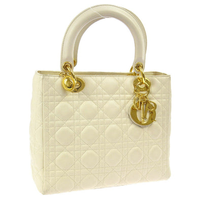 CHRISTIAN DIOR Patent Medium Lady Dior Bag