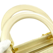 CHRISTIAN DIOR Ivory Patent Medium Lady Dior Bag los angeles