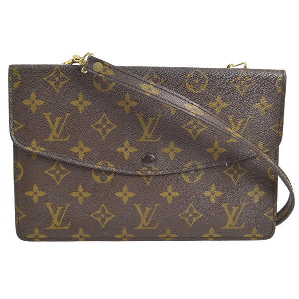 Louis Vuitton Monogram Double Rabat Crossbody Pochette