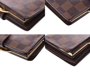 LOUIS VUITTON Damier Ebene Viennois Wallet on sale