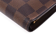 LOUIS VUITTON Damier Ebene Viennois Wallet at the real real