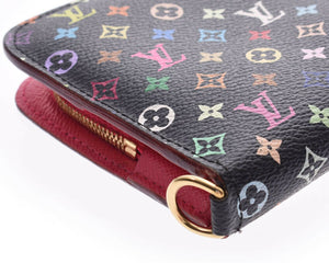 Louis Vuitton Insolite Wallet Black and Multicolor from the Takashi Murakami Collection
