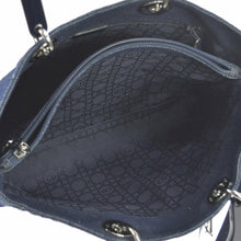 Lady Dior Vintage Handbag Cannage Quilt Medium Dark Blue Denim Tote