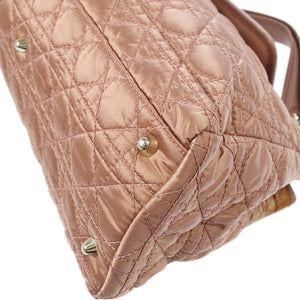 Christian Dior Lady Dior Handbag Cannage Quilt Lambskin Medium, crafted in yellow cannage quilted lambskin,