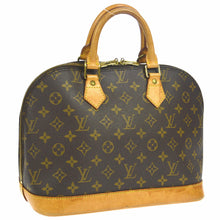 Louis Vuitton Alma Monogram Pm Brown Canvas Leather Satchel