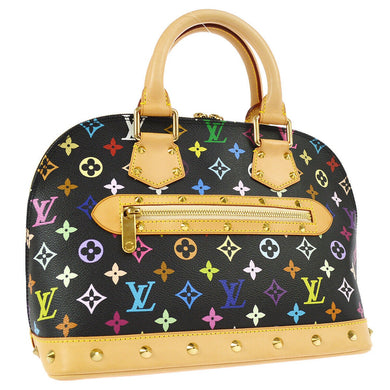 LOUIS VUITTON Black Multicolore Alma Bag