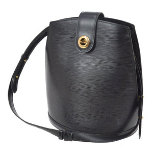 Louis Vuitton Cluny Epi Leather Black Shoulder Bag