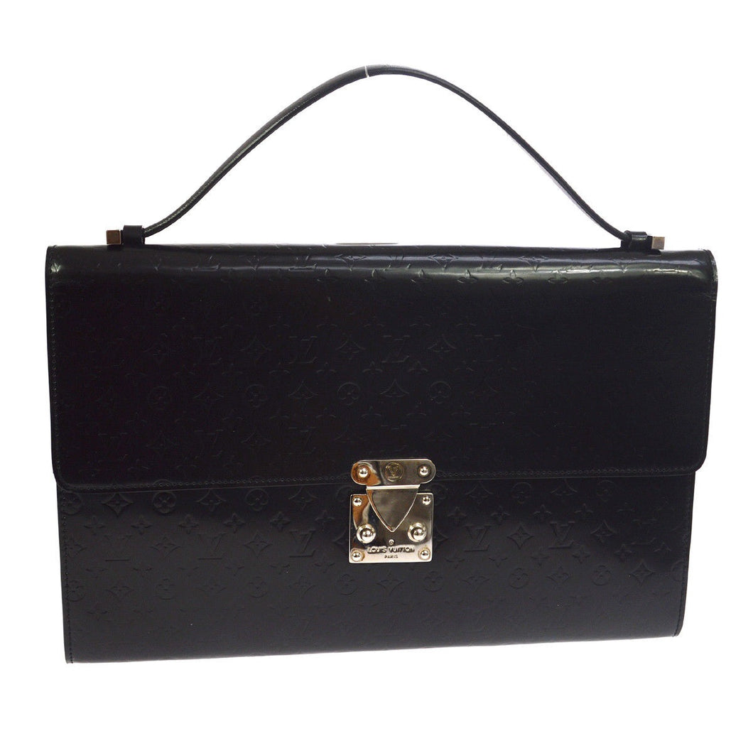 Black monogram mini glace Louis Vuitton Anouchka tradesy