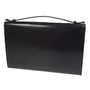 Black monogram mini glace Louis Vuitton Anouchka GM