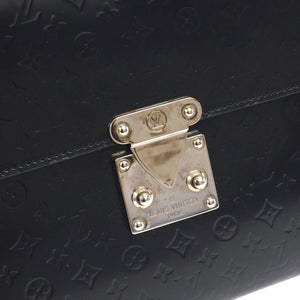 Louis Vuitton Glace Anouchka Monogram Mini  Wallet Purse Black