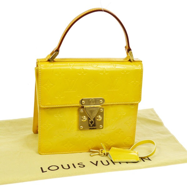 LOUIS VUITTON VERNIS YELLOW SPRING STREET BAG