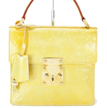LOUIS VUITTON VERNIS YELLOW SPRING STREET BAG the real real