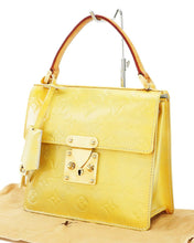 LOUIS VUITTON VERNIS YELLOW SPRING STREET BAG kylie jenner