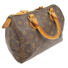 Louis Vuitton Speedy 25 Brown Tan Leather Monogram Satchel