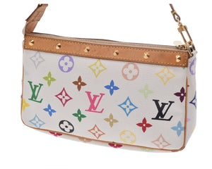 LOUIS VUITTON Multicolore Monogram Pochette Accessories the real real