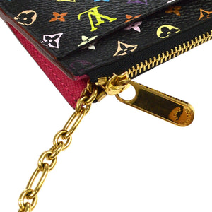 LOUIS VUITTON Multicolore Black Monogram Pochette Accessories