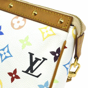 LOUIS VUITTON Multicolore Monogram Pochette Accessories takashi murakami