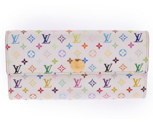 LOUIS VUITTON Multicolore Monogram Sarah Wallet the real real
