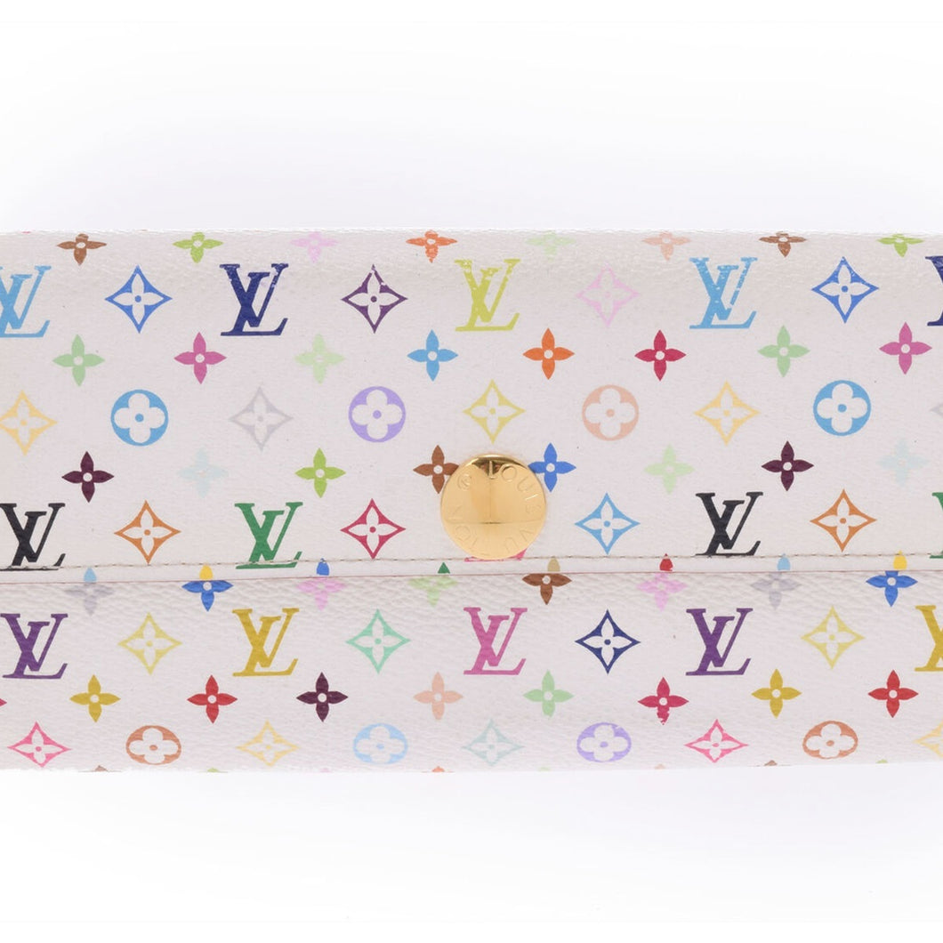 LOUIS VUITTON Multicolore Monogram Sarah Wallet
