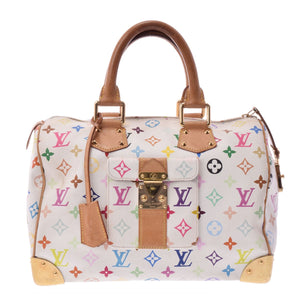 Louis Vuitton Takashi Murakami Collection, White multicolore monogram coated canvas Louis Vuitton