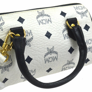 MCM Monogram Mini Handbag Navy Blue/White Coated Canvas Cross Body Bag on etsy