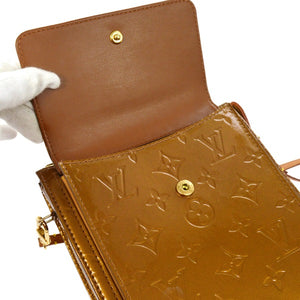 Bronze monogram Vernis leather Louis Vuitton Mott bag