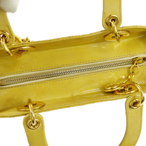CHRISTIAN DIOR Yellow Lady Dior Bag