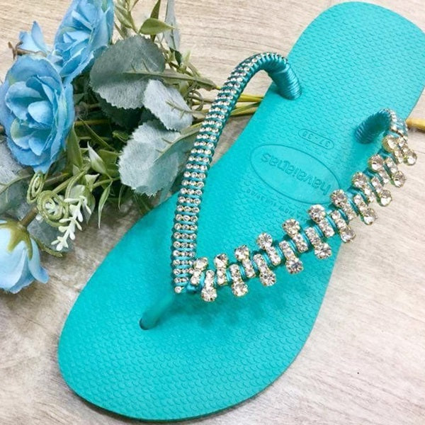 Flip Flop Jewel, Luxury wedding sandals, Luxury Beach FlipFlop