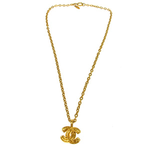 CHANEL CC Vintage Pendant Necklace