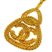 CHANEL CC Gold Chain Pendant Necklace