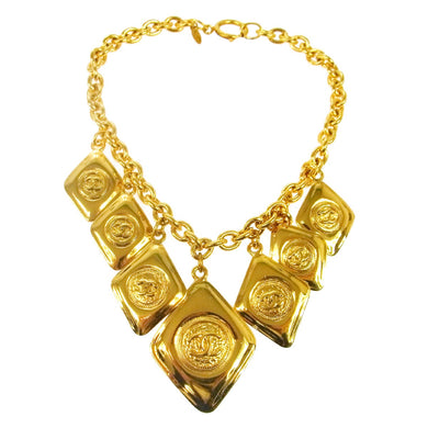 CHANEL Vintage CC Medallion Necklace on sale